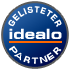 Gelisteter idealo-Partner-Siegel