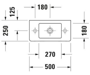 duravit vero handwaschbecken 50 x 25 cm 070350 00 ab 126 06 preisvergleich bei. Black Bedroom Furniture Sets. Home Design Ideas